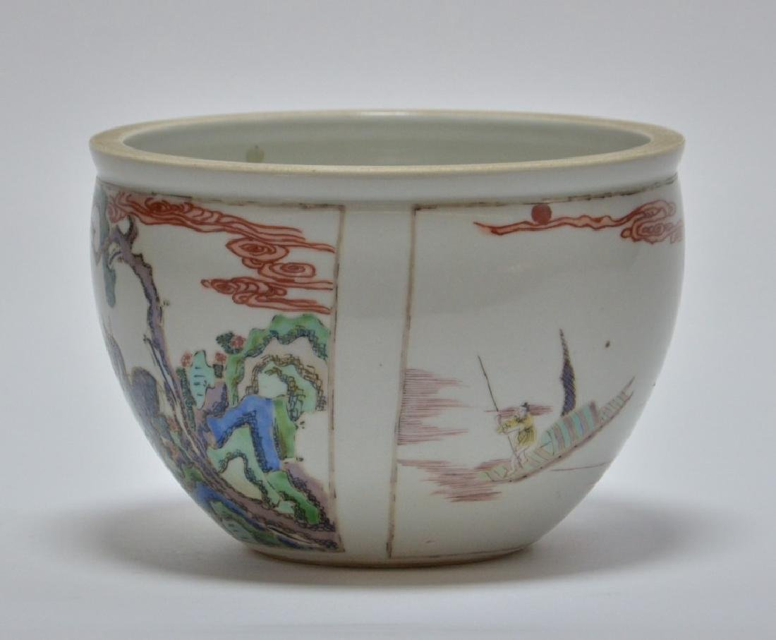19th C. Chinese Famille Rose Porcelain Jardiniere - 2