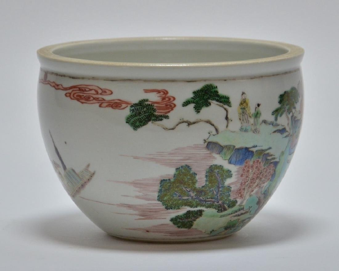 19th C. Chinese Famille Rose Porcelain Jardiniere - 3