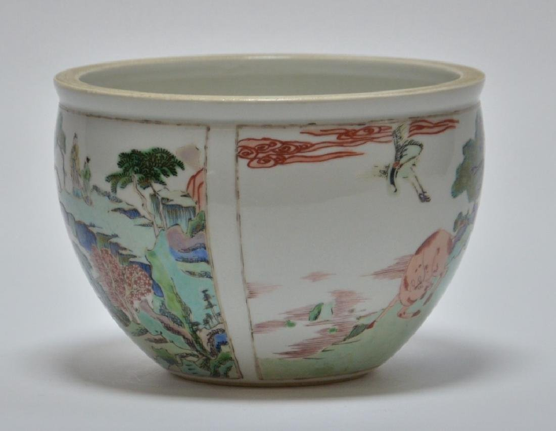 19th C. Chinese Famille Rose Porcelain Jardiniere - 4