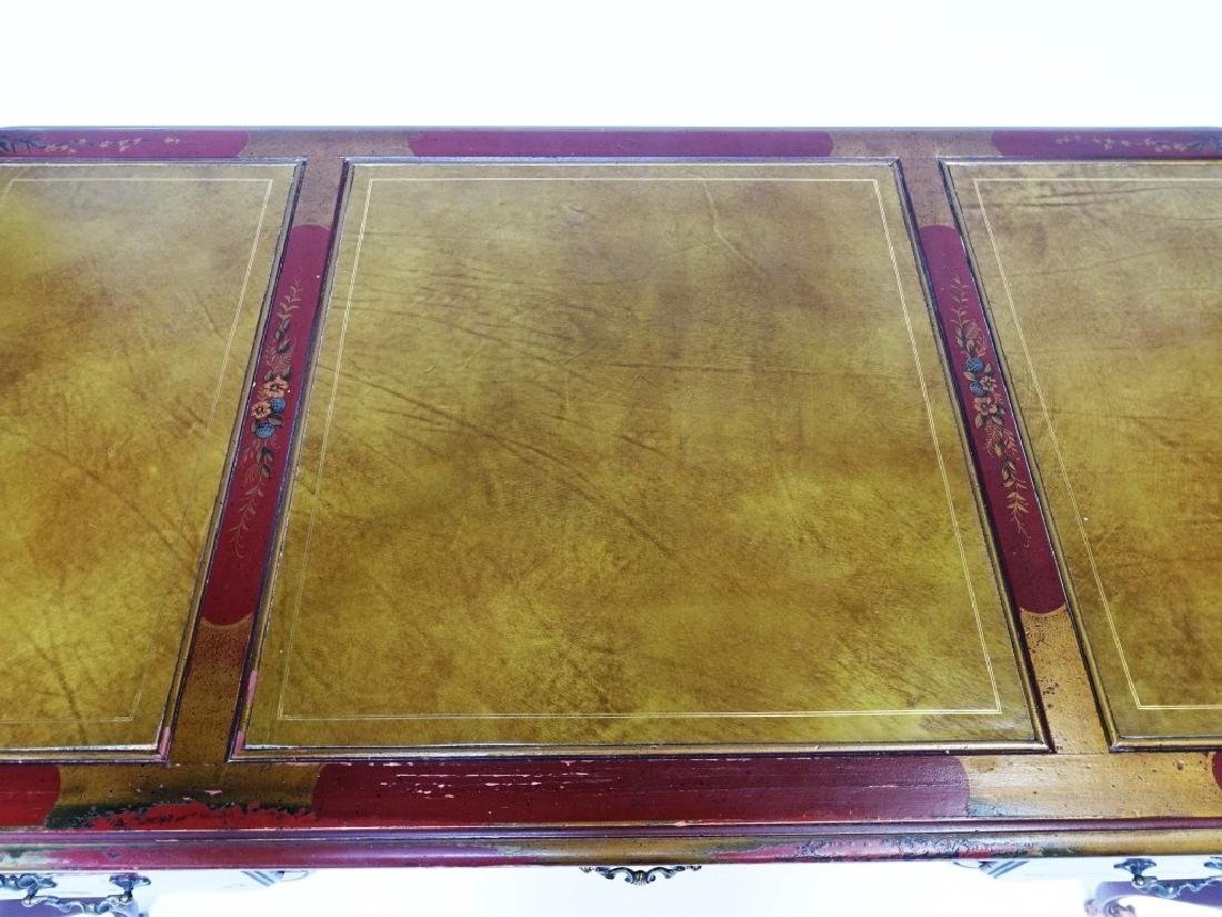 American Drexel Chinoiserie Red Lacquer Desk - 4