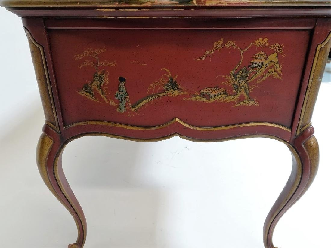 American Drexel Chinoiserie Red Lacquer Desk - 5