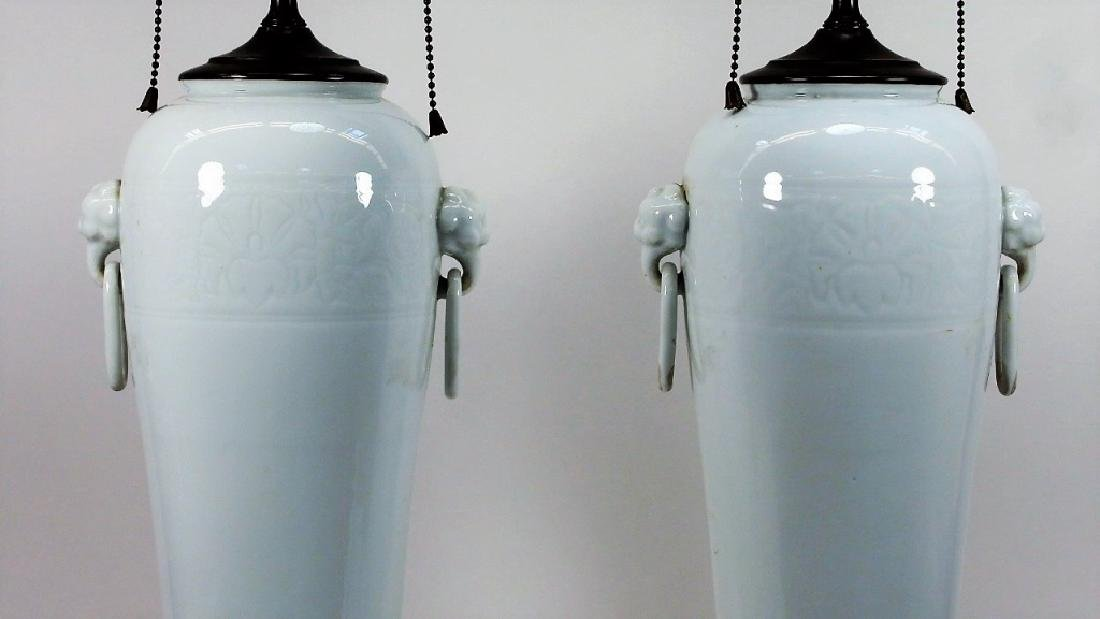 PR Chinese Dahua Style White Porcelain Lamps