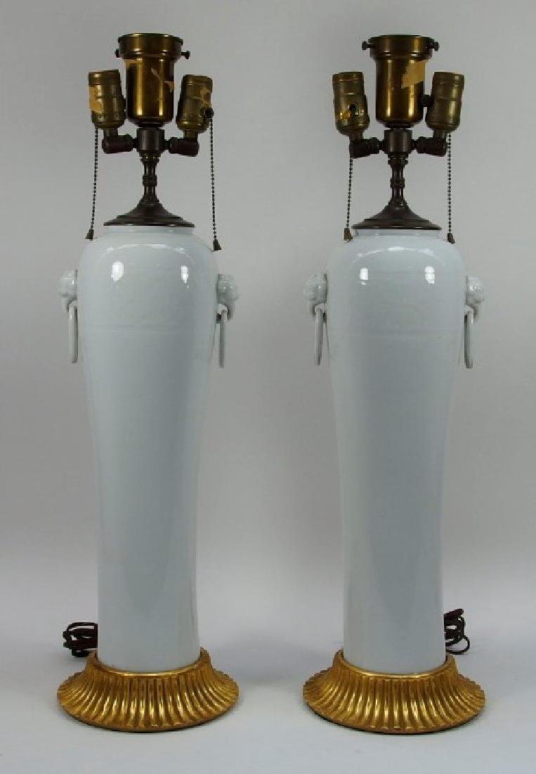 PR Chinese Dahua Style White Porcelain Lamps - 2