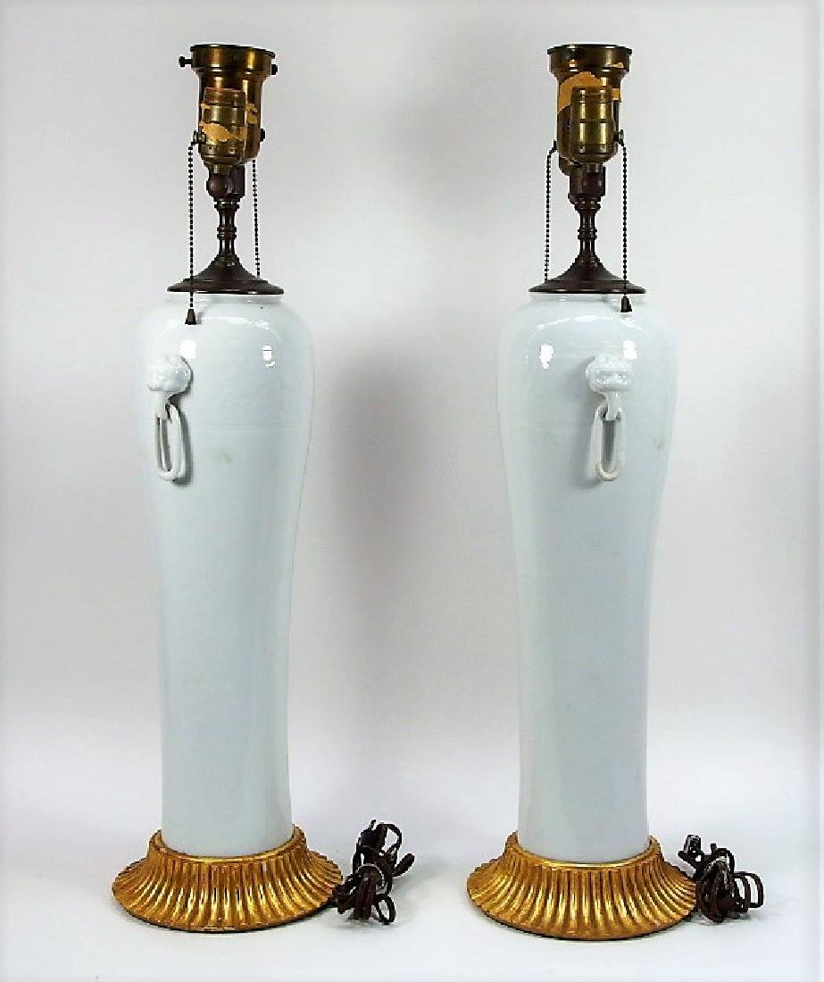 PR Chinese Dahua Style White Porcelain Lamps - 3