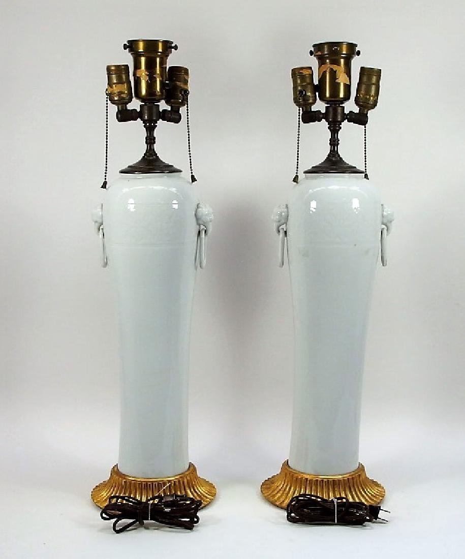 PR Chinese Dahua Style White Porcelain Lamps - 4