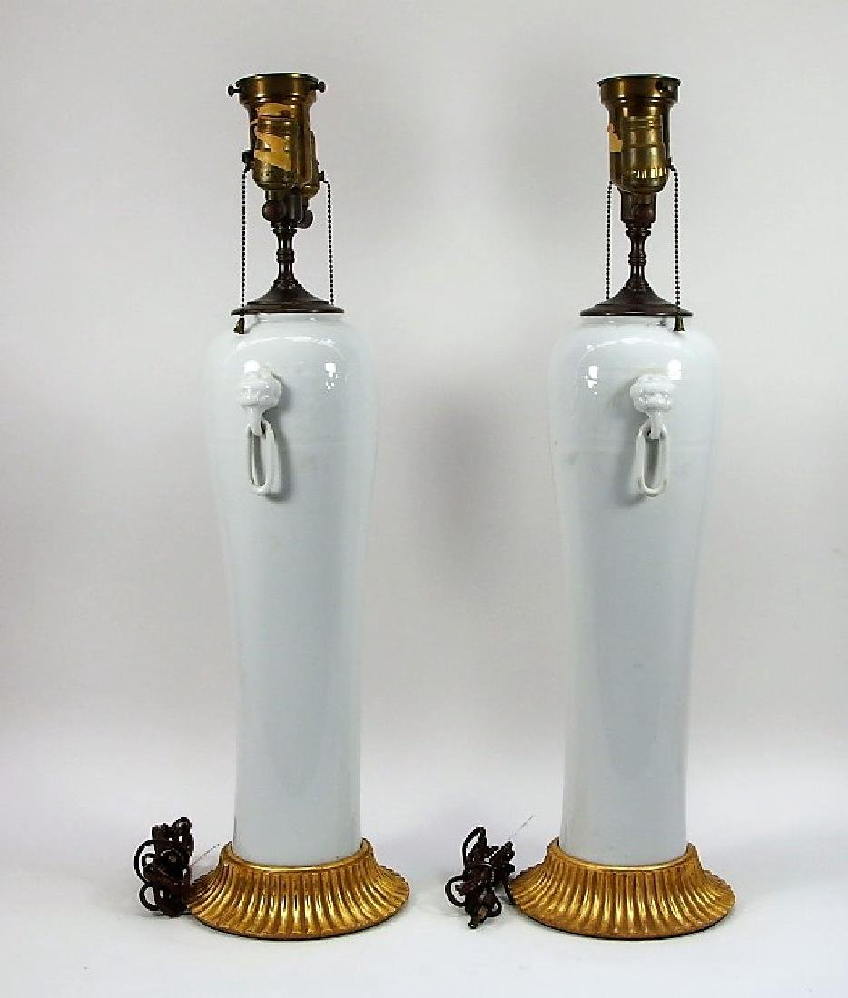 PR Chinese Dahua Style White Porcelain Lamps - 5