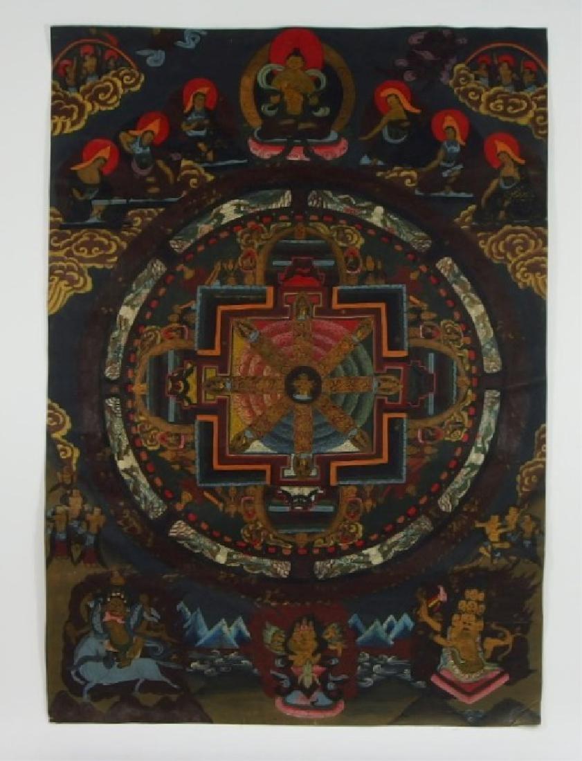 C.1930 Tibetan Tsong-tang Thangka