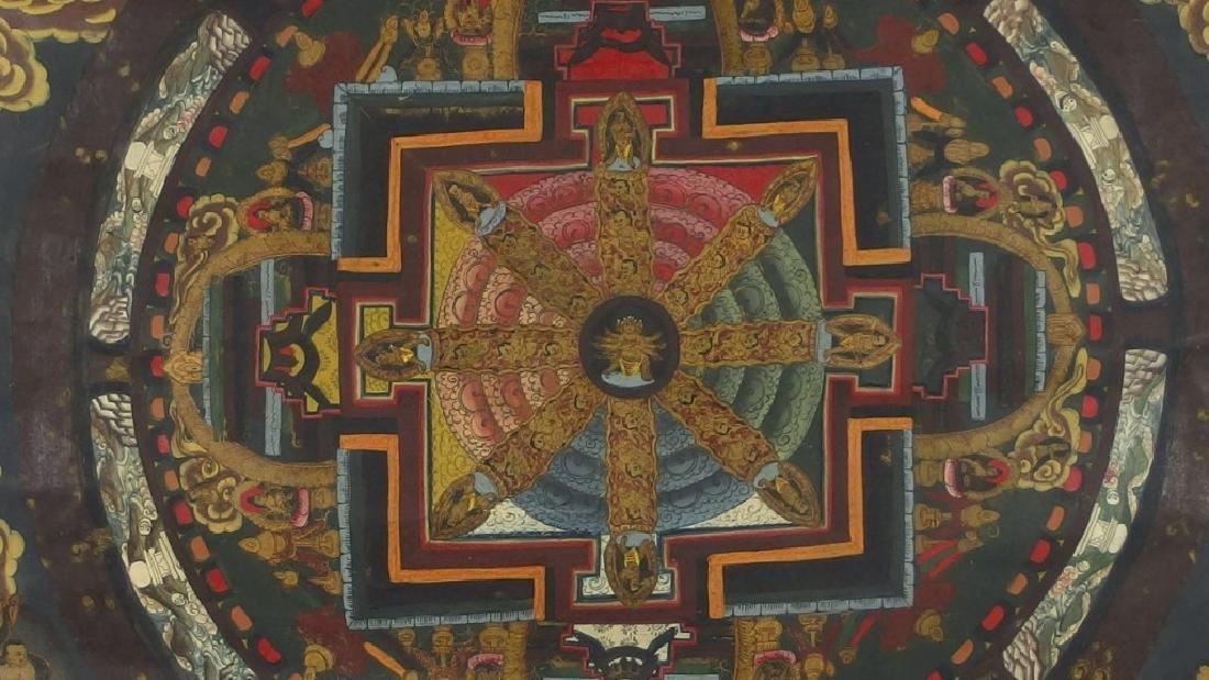 C.1930 Tibetan Tsong-tang Thangka - 2