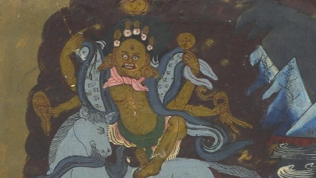 C.1930 Tibetan Tsong-tang Thangka - 4