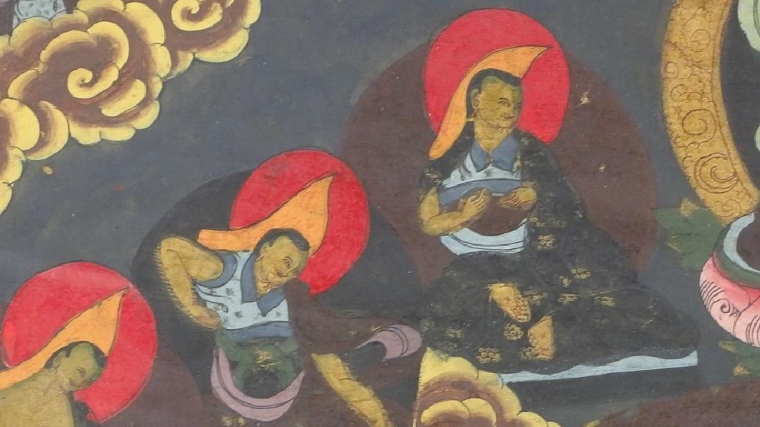 C.1930 Tibetan Tsong-tang Thangka - 5