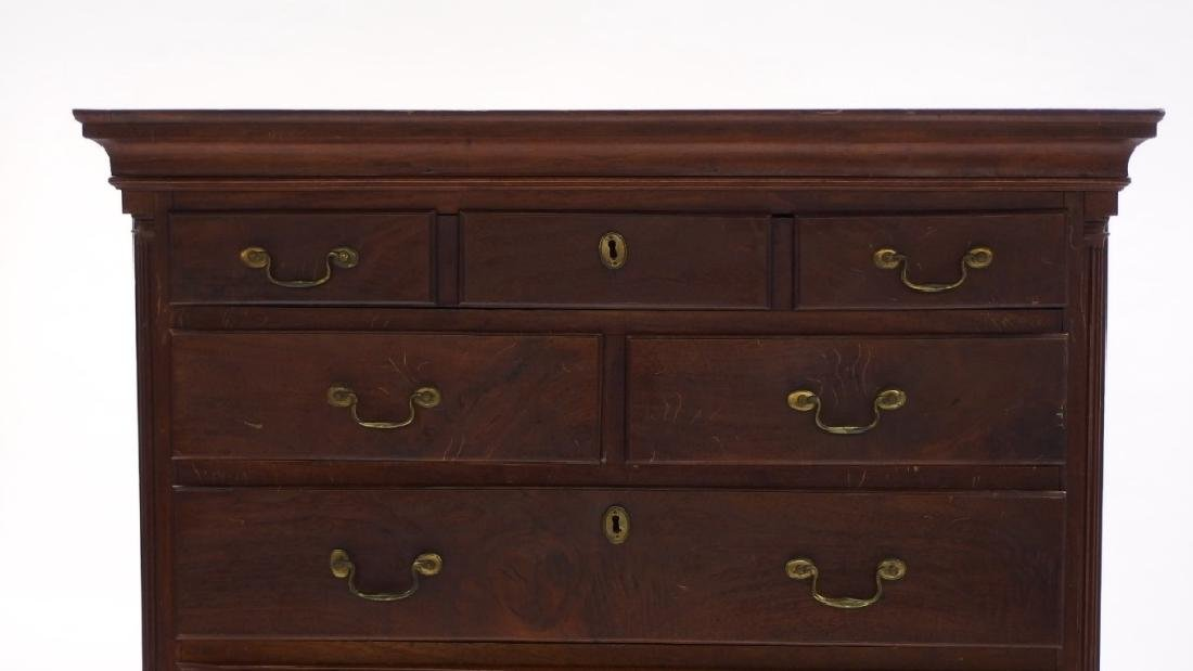 18C. Chippendale Mahogany Tall Chest of Drawers - 4
