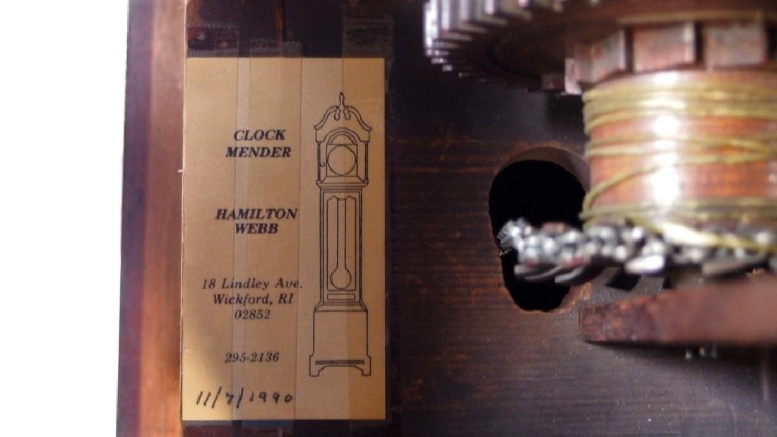 New England Mahogany Tall Case Clock - 10