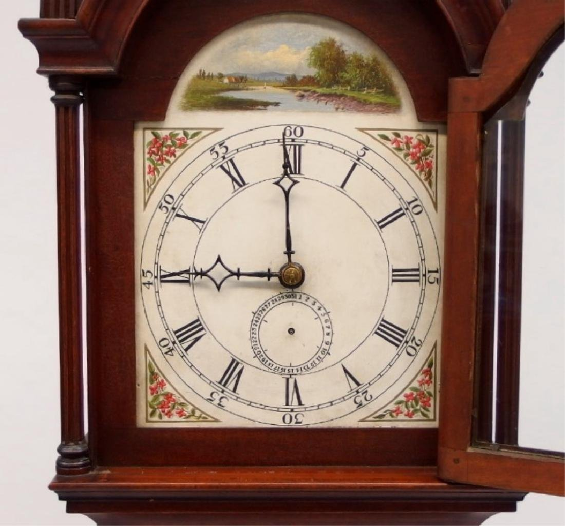 New England Mahogany Tall Case Clock - 2