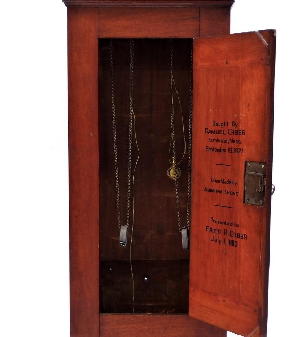 New England Mahogany Tall Case Clock - 3