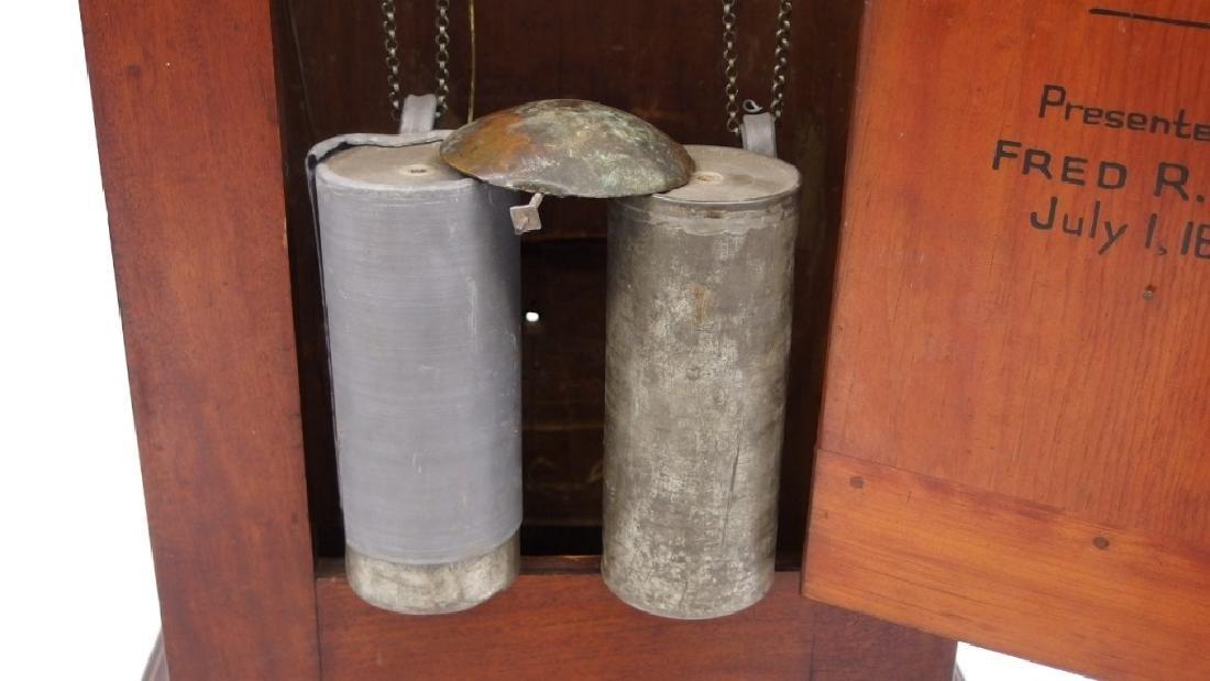New England Mahogany Tall Case Clock - 4