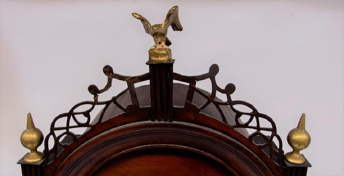 New England Mahogany Tall Case Clock - 5