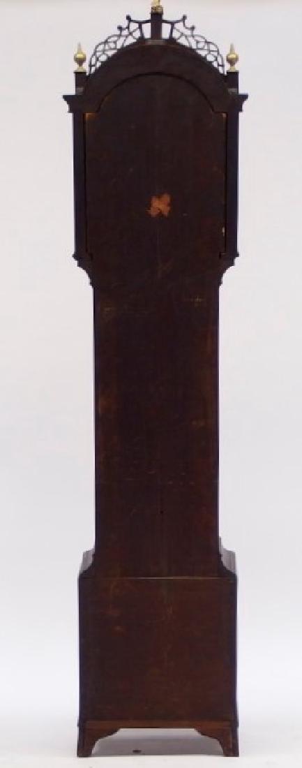 New England Mahogany Tall Case Clock - 7