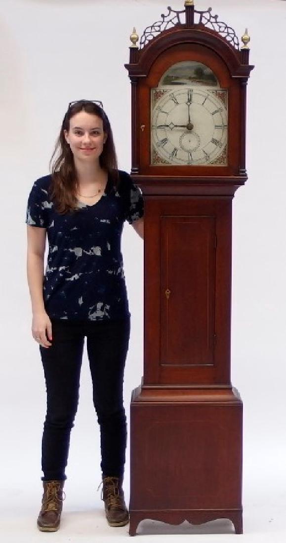 New England Mahogany Tall Case Clock - 8