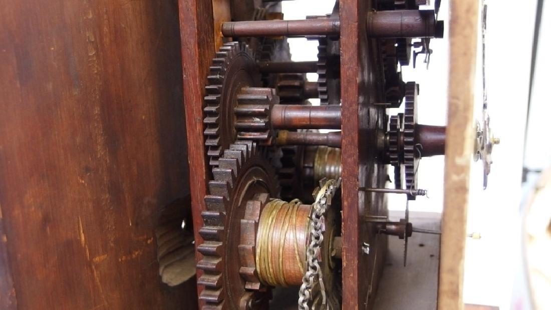 New England Mahogany Tall Case Clock - 9