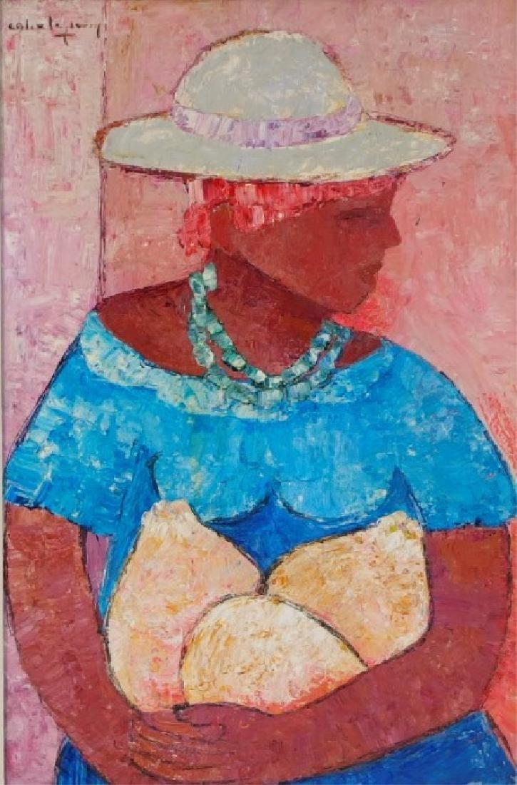 Calix Tequerra Impressionist Portrait Painting