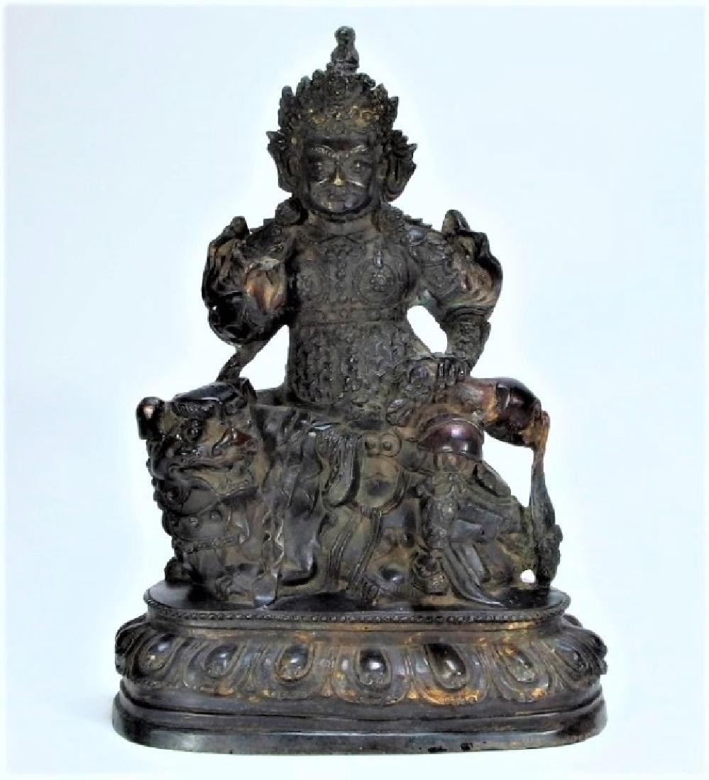 Chinese Ming Dynasty Bronze Figure of Vaishravana