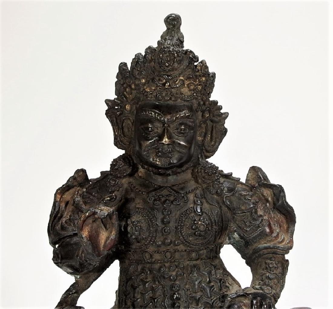 Chinese Ming Dynasty Bronze Figure of Vaishravana - 2