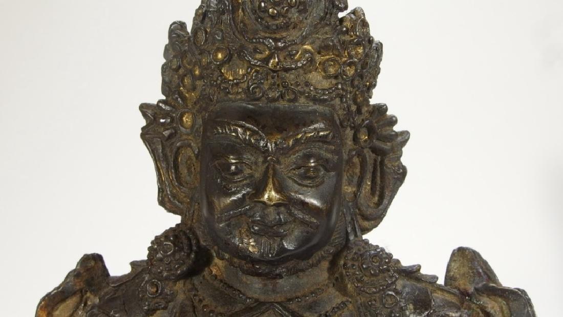 Chinese Ming Dynasty Bronze Figure of Vaishravana - 5