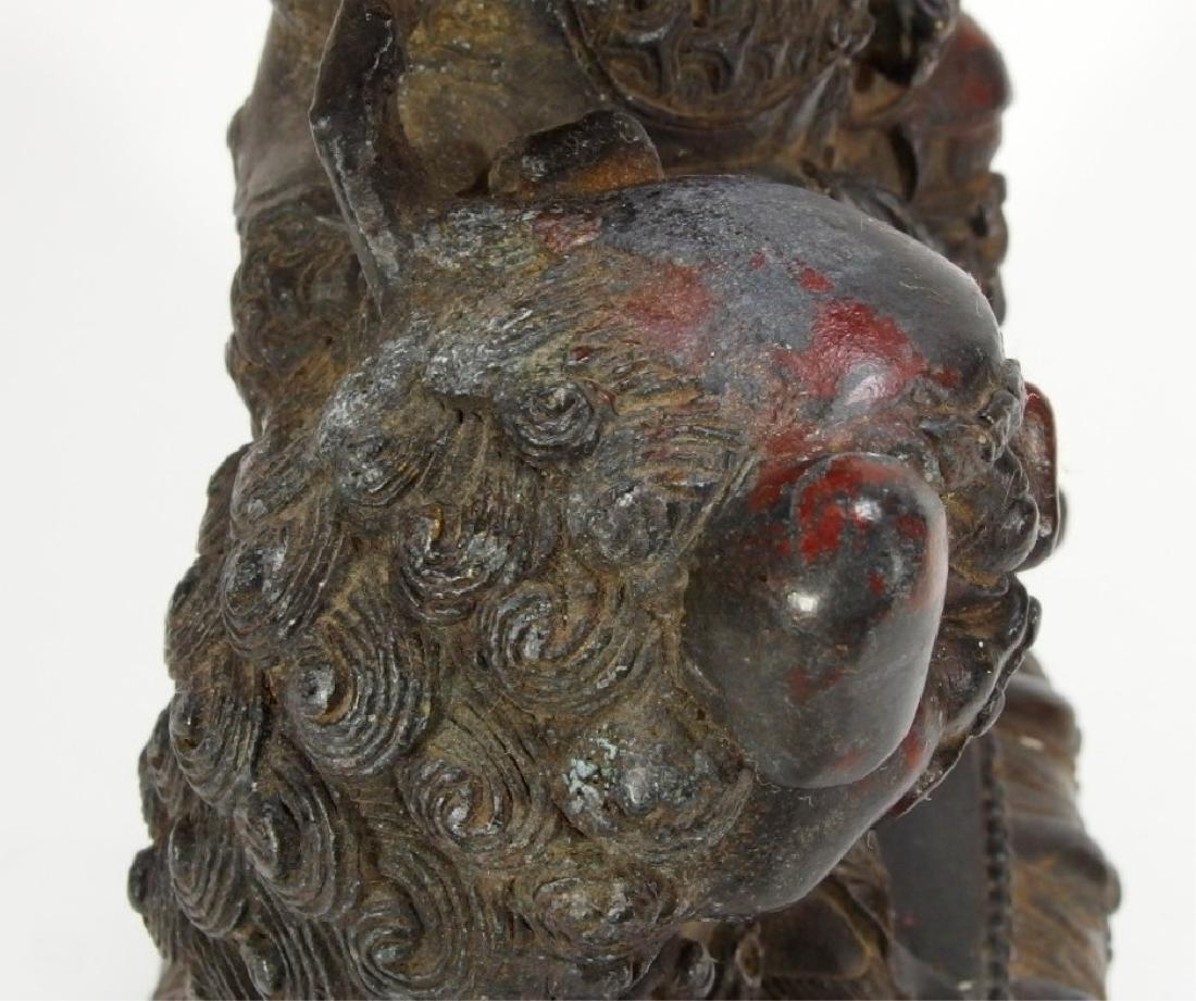 Chinese Ming Dynasty Bronze Figure of Vaishravana - 6