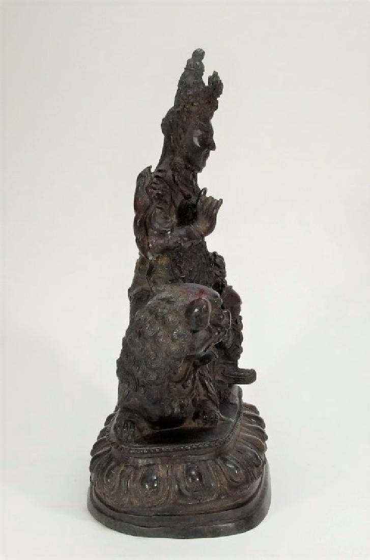 Chinese Ming Dynasty Bronze Figure of Vaishravana - 7