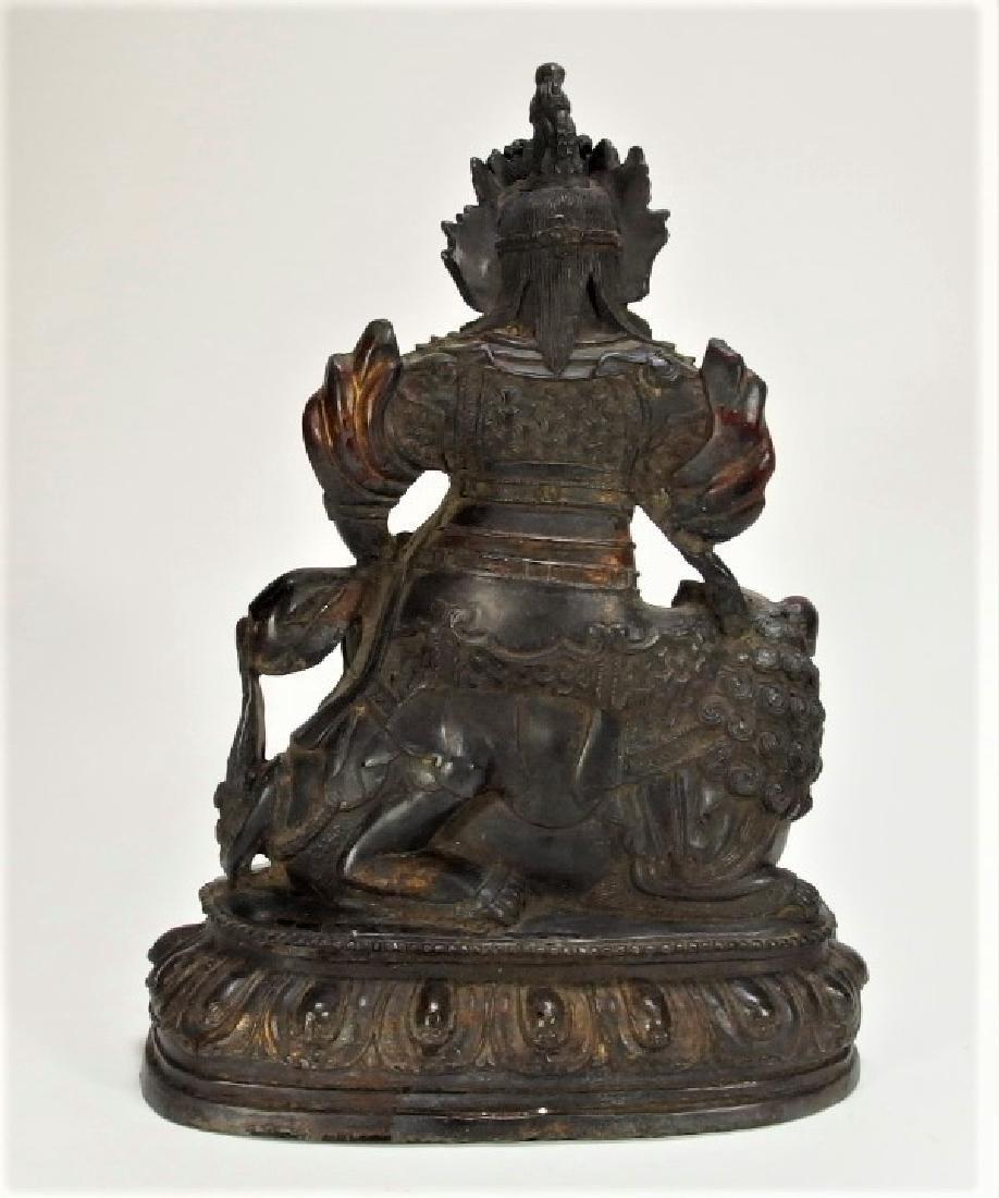 Chinese Ming Dynasty Bronze Figure of Vaishravana - 8