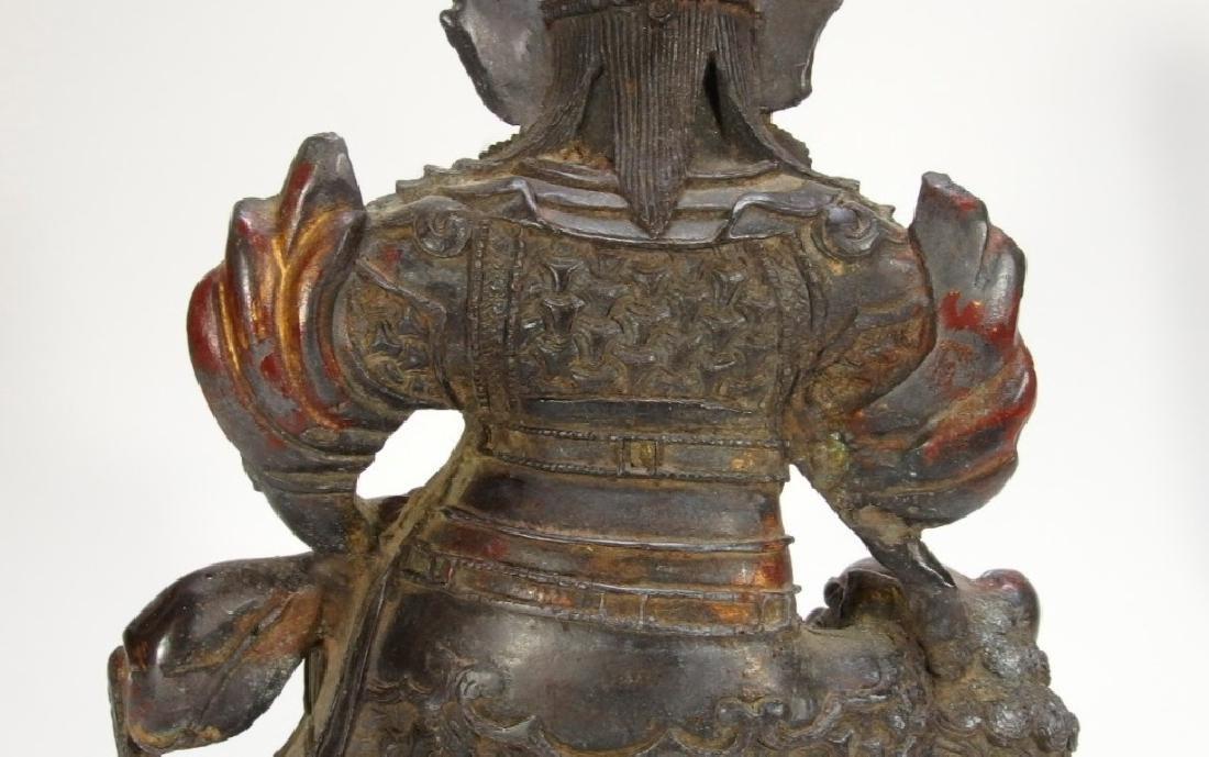 Chinese Ming Dynasty Bronze Figure of Vaishravana - 9