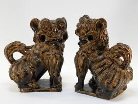 PR Chinese Cizhou Style Ceramic Foo Lions