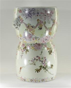 Chinese Porcelain Famille Rose Garden Seat