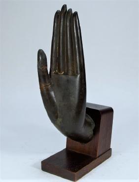 Thai Ayutthaya Buddha Bronze Hand Fragment
