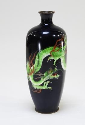 Japanese Meiji Period Ginbari Cloisonne Vase