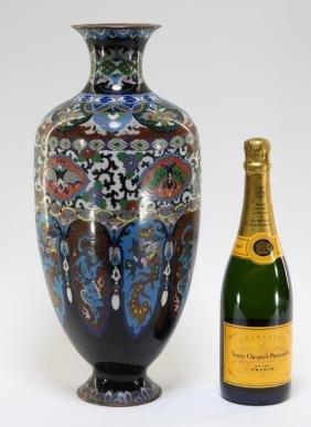 LG Japanese Cloisonne & Ginbari Enamel Vase