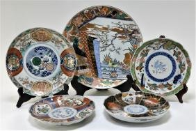 5 Japanese Imari Porcelain Table Articles