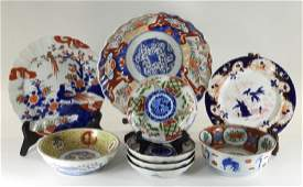 9 Japanese Imari Porcelain Table Articles