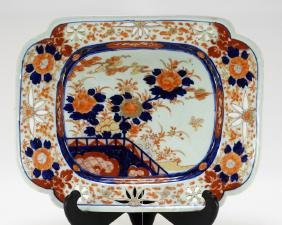 Japanese Imari Porcelain Square Serving Dish