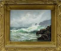 Arthur Vidal Diehl Illuminated Seascape Painting