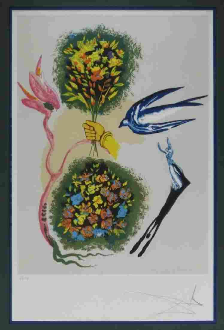 Attrib Salvador Dali Apparition of Rose Lithograph