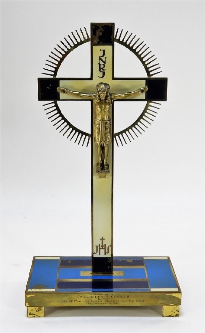 Attrib. Walter Dorwin Teague Art Deco Crucifix