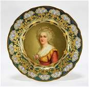 Royal Vienna Porcelain French Decorated Gilt Plate