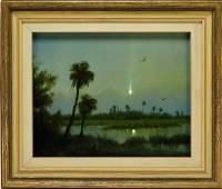 William R. Davis Illuminated Everglades Painting