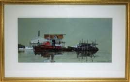 Roger Ellenberger Marine Reflections WC Painting