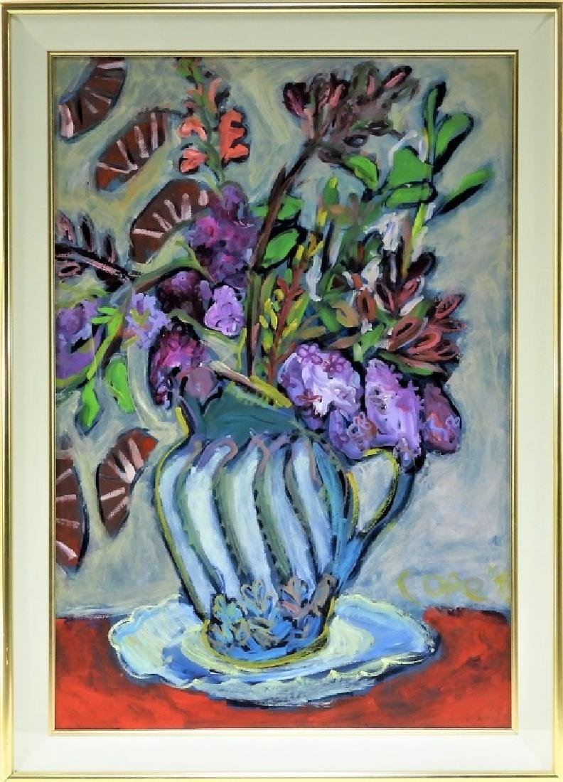 Elizabeth Cope O/B Abstract Still Life Painting