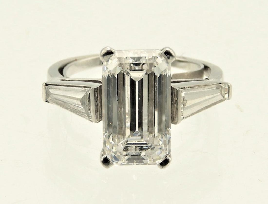 Lady's Platinum 5.99CT Diamond Engagement Ring