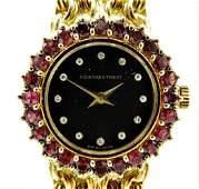 Audemar Piguet Diamond & Ruby Set Bracelet Watch