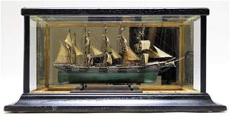 19C. American Miniature Model of Providence Ship
