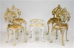 American Art Nouveau Cast Iron Patio Set